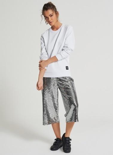 Pi π Payetli Pantolon Gümüş